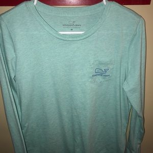 Vineyard Vines Tops - Teal long sleeve Vineyard Vines t-shirt